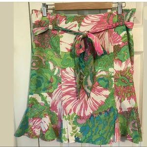 🌴NANETTE LEPORE Paradise Skirt Pink Green Floral